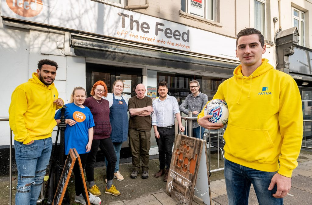City players visit local charity building a stronger community