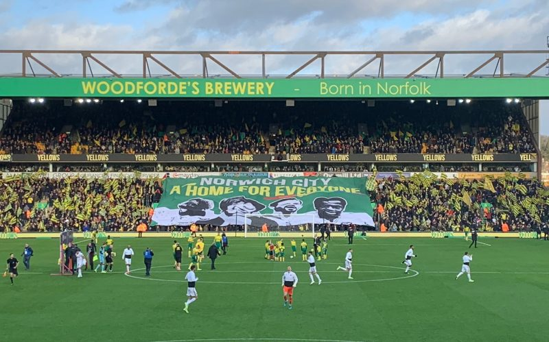 Carrow Road: A constant presence and rock in a fast-running stream of time. Our home