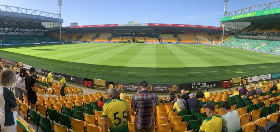 Were the lucky 1000 the only fans who'll get to see football at Carrow Road this season?