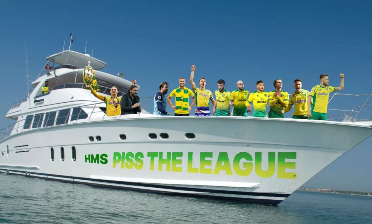 WE'RE NORWICH CITY AND WE ARE PREMIER LEAGUE!!