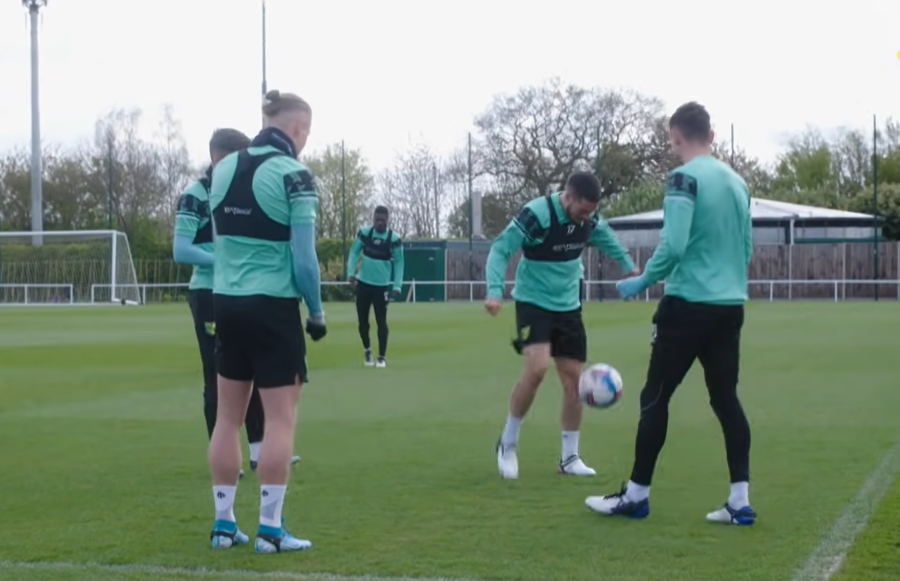 A day in the life at Colney: rondos, relay races and, to come, a SoccerBot360
